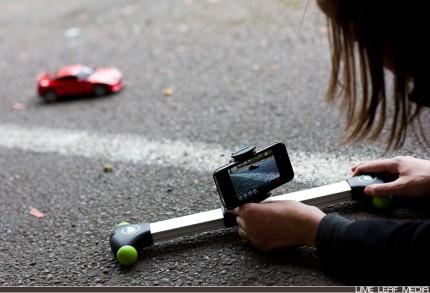 Glidetrack Mobislyder filming toy car