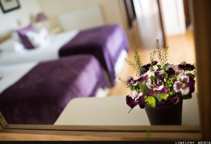 Flower in guest bedroom
