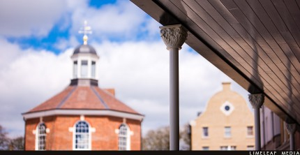Poundbury building pillar