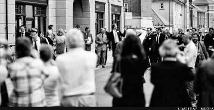 Prince Charles walking past the Yard