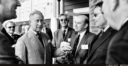 H.R.H Prince Charles meets contractors