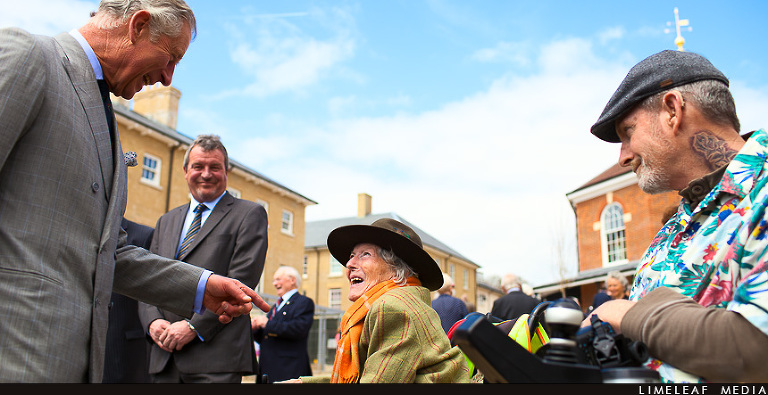 Prince Charles meets residents of Poundbury