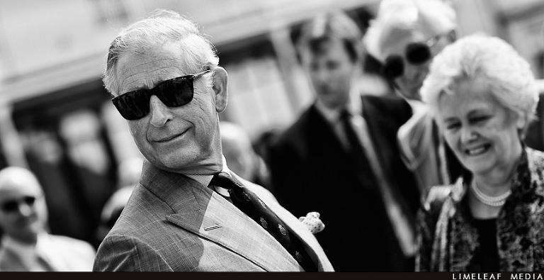 H.R.H Prince Charles in sunglasses