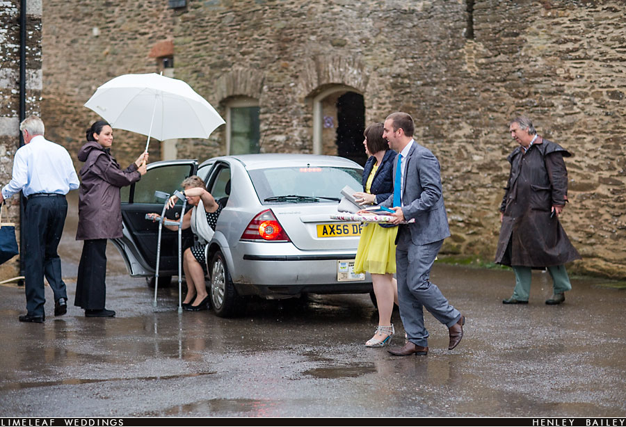 Family arriving at Shilstone House