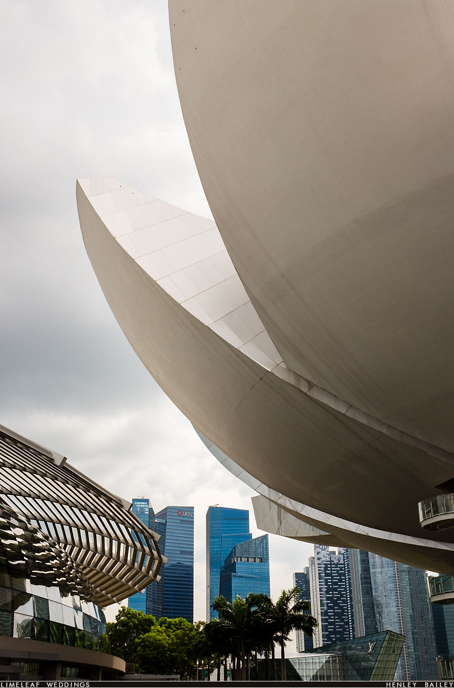 Singapores financial centre is seen behind the Art Science museum of Marina Bay Sands