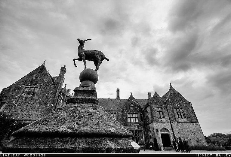 Huntsham Court deer  statue