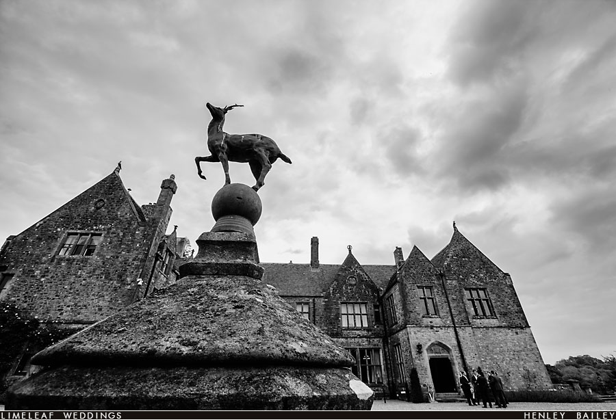 Huntsham Court deer  statue