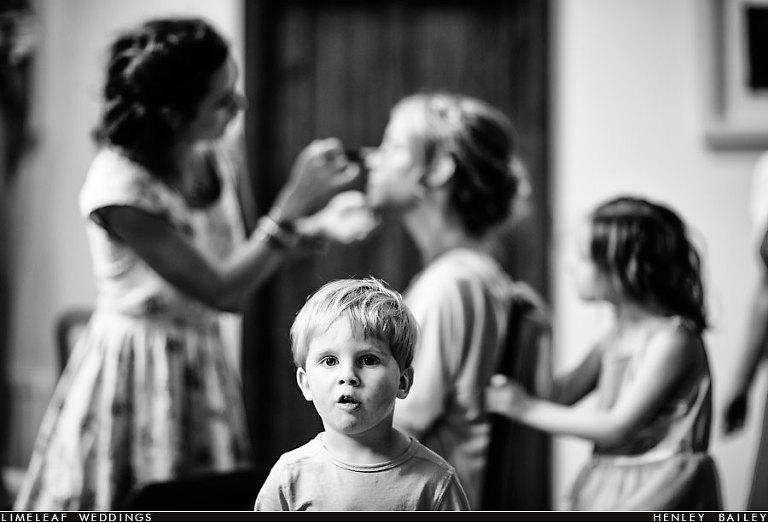 Child staring at camera