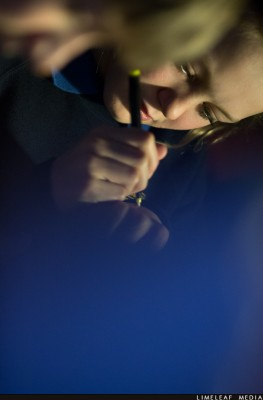 Child using pen