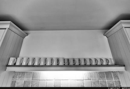 Cups in kitchen