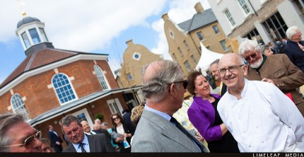 Prince Charles meets Chris the baker of Poundbury